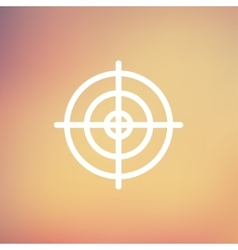 Crosshair target thin line icon vector