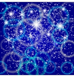 Abstract blue background with bokeh and particles vector