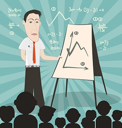 Businessman on conference with audience vector