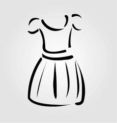 Drawing of a pinafore- apparel logo vector