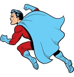 Fighting superhero vector