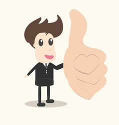 Thumbs up businessman vector