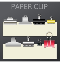 Set of different paper clips for your design vector