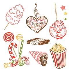 Funfair candy sweets vector