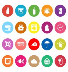 Laundry flat icons on white background vector