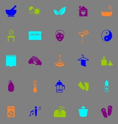 Massage fluorescent color icons vector