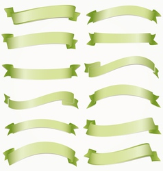 Set of ribbons for your text vector