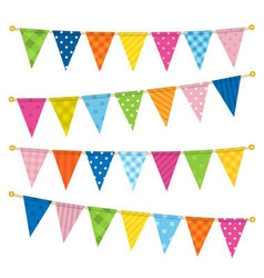 Triangle bunting flags vector