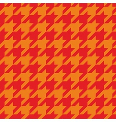 Houndstooth tile red and orange pattern vector