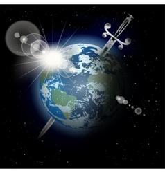 Sword in the earth vector