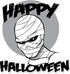 Halloween mummy vector