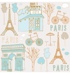 Paris symbols vector