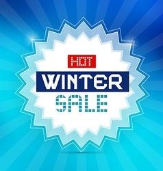 Hot winter sale retro blue background vector