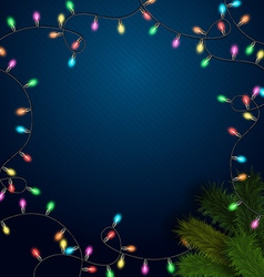 Elegant background with light garland and vector