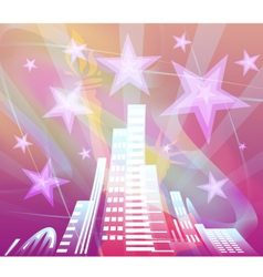 Abstract background city vector