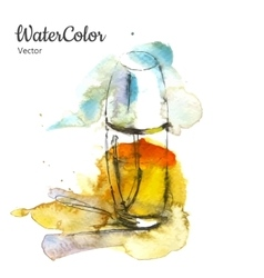 Hand painting watercolor of vector