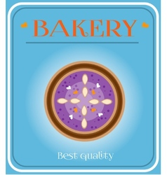 Bakery with plum cake vector