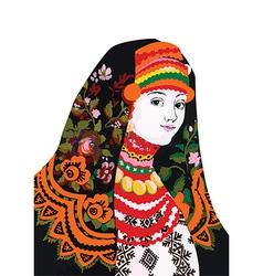 Artistic oriental dress design vector