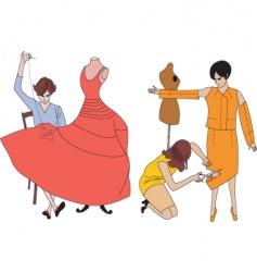 Dressmaker vector