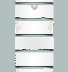 Six different notes paper vector
