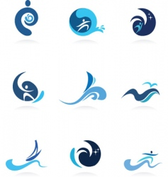 Water sports vector