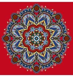 Round ornamental geometric doily pattern vector