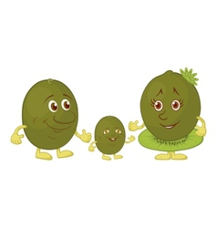 Character kiwi fruit vector