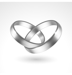 Silver rings vector