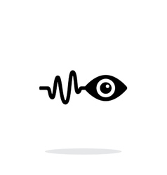 Pulse observation icon on white background vector