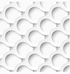 White circles with drop shadows vector
