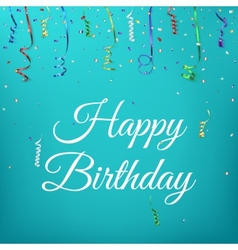 Happy birthday celebration background template vector