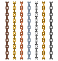 Different material and color style chain set vector