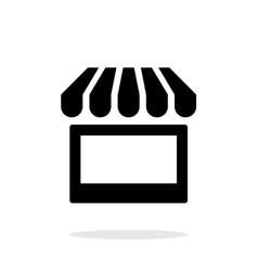 Kiosk icon on white background vector