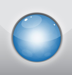 Glossy blue circle vector