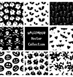 Halloween patterns vector