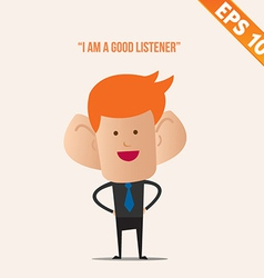 Business man with a big ears - - eps10 vector
