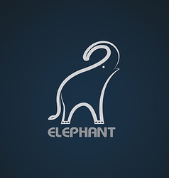 Image of an elephant design vector