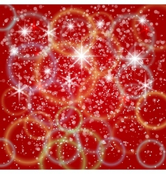 Abstract red background with bokeh and particles vector