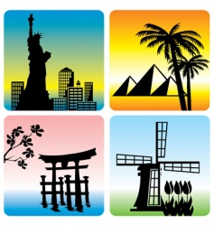 Travel landmark vector