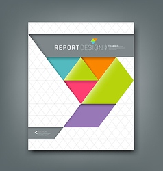 Report design colorful origami paper triangle vector