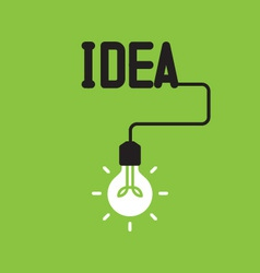 Bulb with idea concept vector