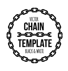 Ring shape chain emblem black and white vector
