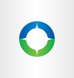 Green blue compass icon vector