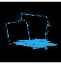 Grunge ink blots blue vector