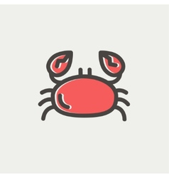 Crab thin line icon vector