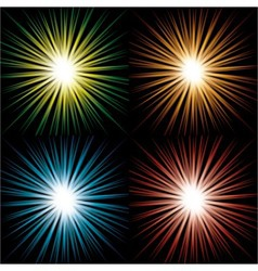 Starbursts vector