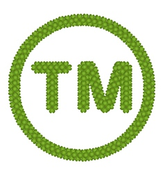 A four leaf clover of trademark sign vector
