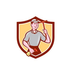 Window washer cleaner squeegee shield cartoon vector