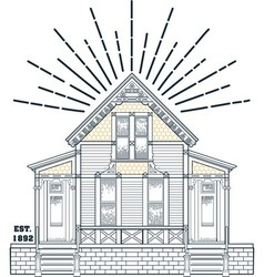 000 old house vector