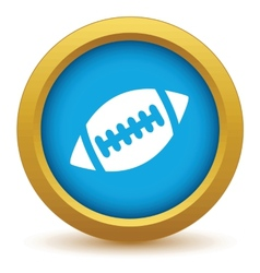 Gold football icon vector